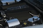 "C6 Corvette 2005-2013 LS2 / LS3 Hydrocarbon Carbon Fiber Fuel Rail Covers With ""Corvette"" Script"