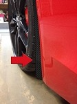 C7 Corvette Stingray 2014+ Hydrocarbon Carbon Fiber Splash Guard 4Pc Set