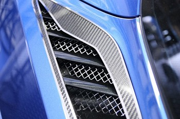 C7 Corvette Stingray 2014+ Laser Mesh Rear Quarter Vent Grilles - 2 pc