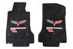 C6 Lloyds Corvette Ultimat Front Floor Mats Grand Sport  Logo & Cross Flags