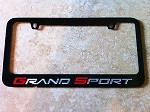 Corvette C6 Grand Sport License Plate Frame Black Powder Coat