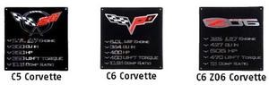 C5 C6 Base/Z06 Corvette Logo Wall Sign 2'x2' Tech Specs