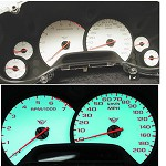 Corvette C5 97-04 White Face Gauge Overlay - GM Licensed