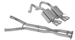 Corvette C6 2005 - 2008 Quad Cruiser Exhaust & X-Pipe Combo