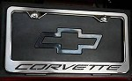 Corvette C5 97-04 Stainless Steel Brushed License Plate Frame With Carbon Fiber Inlays