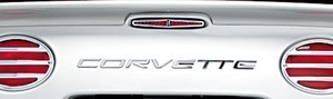 Corvette C5 97-04 Mirror Finish Stainless Rear Letter Kit