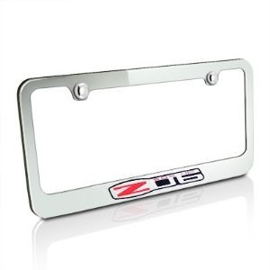 Corvette C6 Z06 06-13 License Plate Frame Chrome