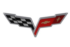 C6 05-13 Corvette Crossed Flags Emblem