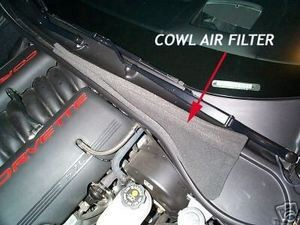 CORVETTE C5 COWL AIR VENT FILTER 97-04