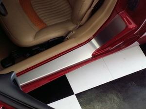 Corvette C5 97-04 Stainless Doorsills Plain