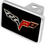 Corvette C6 Logo Hitch Plug - Flags Only