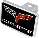 Corvette C6 Logo Hitch Plug - Flags & Lettering