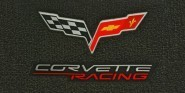 C6 Lloyds Corvette Ultimat Front Floor Mats - Corvette Racing & Cross Flags