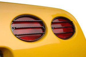 C5 Corvette Carbon Fiber Taillight Louvers