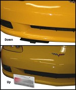 C5 C6 Base, Z06, ZR1, Grand Sport 97-13 Corvette Manual Retractable Front License Plate Show N Go