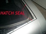CORVETTE C5 97-04 HATCH / TRUNK SEAL KIT