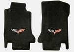 Corvette C6 Lloyds Corvette Velourtex Front Floor Mats - Logo Only