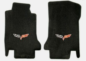 Corvette C6 Lloyds Corvette Ultimat Front Floor Mats - Logo Only