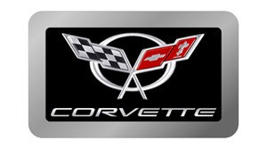 Corvette C5 Gel Logo Exhaust Enhancer Plate
