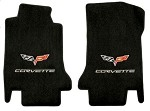 C6 Lloyds Corvette Front Ultimat Floor Mats - Logo and Lettering