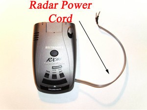 "Corvette C5 C6 Radar Detector Power Cord ""EasyPower"""