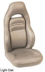 Corvette C5 Leather Seat Skin Covers - Sport Seat Solid Colors