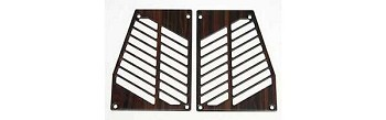 1984 - 89 C4 Corvette Rosewood Trim Pieces