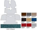 1970-1977 C3 Corvette Cut Pile Carpet Sets