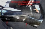 C6 Corvette 2005-2013 Hydro Carbon Fiber Center Console Waterfall Bottom