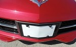 C7 Corvette Stingray/Z06 2014+ Aluminum Angled Front License Plate Frame - Carbon Flash Metallic Powder Coat