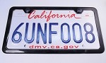 C7 Corvette Stingray/Z06 2014+ Steel Rear License Plate - CFM Powder Coated - Thin 50 State Legal