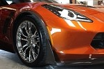 C7 Corvette Z06/Grand Sport 2015+ Carbon Fiber Front Fender Extensions - Wheel Trim Moldings - 2Pc