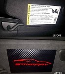 C7 Corvette Stingray/Z06/Grand Sport 2014+ Airbag Warning Cover Overlays W/ Decal Selection - (Pair)