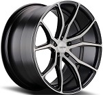 C6 C7 Corvette 2006-2014+ Gloss Black Brushed Face Varro Wheels Style 1 - 19x10 / 20x12