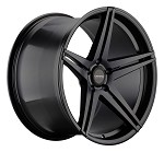 C6 C7 Corvette 2006-2014+ Satin Black Varro Wheels Style 3 - 19x10 / 20x12