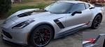 C7 Corvette Z06 2015+ Custom Painted Rear Brake Vent Duct - Pair