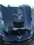 C7 Corvette Stingray/Z06/Grand Sport 2014+ Jake Skull Hood Decal