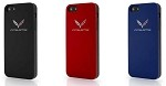 C7 Corvette Stingray/Z06 2014+ Colored TPU Phone Case w/ Crossed Flags - iPhone 6 / 6 Plus