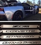 C7 Corvette Stingray/Z06/GS 2014+ Car Show Billet Aluminum Props  - Cut Out Script