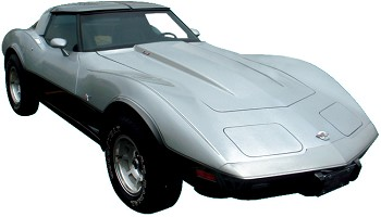 Corvette C3 1978 Anniversary Silver Decal Kit