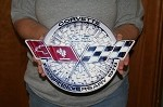 1978 C3 Corvette Front Emblem Metal Sign 25th Anniversary
