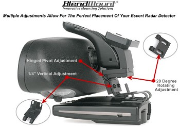 Corvette C6 05-13 Blendmount Radar Detector Mounting System