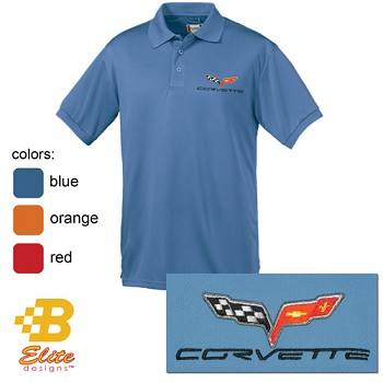 C6 Corvette Embroidered Fairfax Men's or Ladies Performance Polo Shirt
