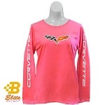 C6 Ladies Long Sleeved Corvette Emblem Shirt