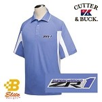 Corvette ZR1 Cutter & Buck Embroidered Men's Polo Shirt