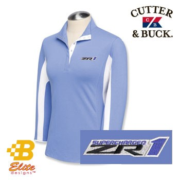 Corvette ZR1 Ladies Cutter&Buck 3/4 Sleeve Polo