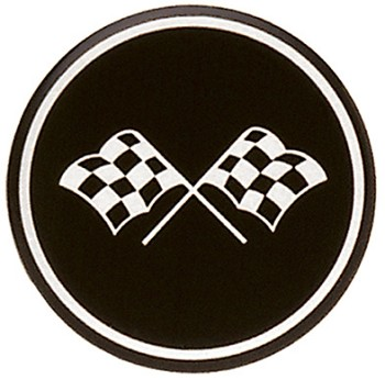 C3 Corvette 1968-1982 Black and Silver Cross Flag Wheel Decals