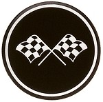 C3 1968 - 1982 Corvette Black and Silver Cross Flag Wheel Decals