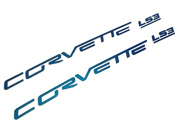 Corvette C6 05-13 Custom Painted Body Colored Fuel Rail Lettering LS2, LS3, LS7