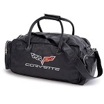 C5 C6 Corvette Leather Duffel Bag - C6 With Color Options
